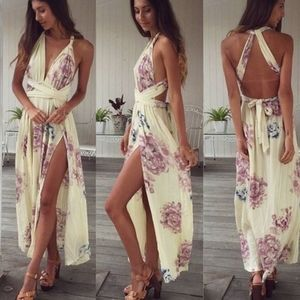 🆕 Gorgeous multi-way floral maxi dress size 12AU